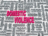 3d Concept diagram wordcloud illustration of domestic violence — Stock Photo