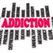 Stock Photo: 3d Addiction message. Substance or drug dependence conceptual de
