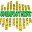 3d Unemployment message concept. Jobs crisis concept — Stock Photo #36788271