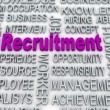 3d imagen about recruitment concept — Stock Photo