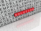 3d imagen solution and problem word — Stock Photo