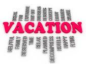 3d Vacation family, arrangement concept — Stock Photo