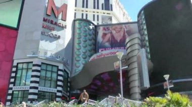 LAS VEGAS - CIRCA 2014: Britney Spears show poster at Planet Hollywood on CIRCA 2014 in Las Vegas. She is reportedly earning 15 million per year, making her the highest paid Vegas act (per show). — Stok video