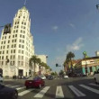 Stock Video: HOLLYWOOD - CIRC2014: POV Driving Down Hollywood Boulevard in Los Angeles on Circ2014