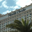 Stock Video: LAS VEGAS - CIRC2014: Montecarlo Resort and Casino on CIRC2014 in Las Vegas. hotel invoke Place du Casino in Monte Carlo, features chandelier domes, marble floors and neoclassical arches.