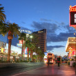 Stock Photo: LAS VEGAS, JANUARY 31: Las Vegas Strip at sunset on January 31,