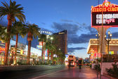 LAS VEGAS, JANUARY 31: Las Vegas Strip at sunset on January 31, — Stock Photo