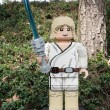 Stock Photo: CARLSBAD, US, FEB 6: Star Wars Luke Skywalker Minifigure made wi