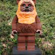 Stock Photo: CARLSBAD, US, FEB 6: Star Wars Wicket W. Warrick Minifigure made