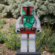 Stock Photo: CARLSBAD, US, FEB 6: Star Wars BobFett Minifigure made with le
