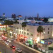 Stock Photo: LOS ANGELES - FEB 9, 2014: View of Hollywood Boulevard in sunset