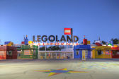 CARLSBAD, CA - FEB 5: Legoland California in sunset, February 5, — Stockfoto