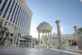 LAS VEGAS, FEB 3: Caesar Palace Hotel Temple pool in Las Vegas,  — Stock Photo