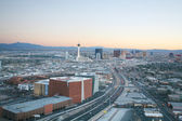 Aerial view of Las Vegas at sunset — Stock Photo