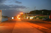 Causeway of Amador in Panama in the sunset.  It a very popular t — Stock Photo