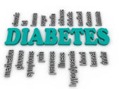 3d imagen Word cloud - diabetes  — Stock Photo