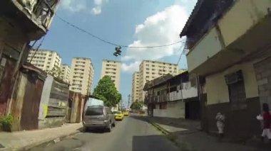 CHORRILLO, PANAMA - CIRCA 2014: Shacks in shanty town on circa 2014 in Chorrillo, Panama. — Stock Video
