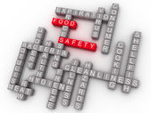 3d Food Safety Word Cloud Concept  — Stock Photo