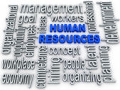 Human Resources concept in tag cloud on white background — Stock Photo