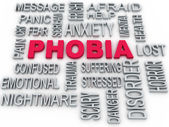 3d Phobia symbol conceptual design isolated on white. Anxiety di — Stock Photo