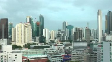 View of the skyscrapers of panama city, in central America. — Stock Video
