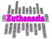 Euthanasia issues. 3d imagen word concept — Foto Stock