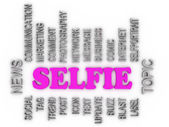 3d imagen about Selfie Topic — Stock Photo