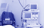 Electrocardiogram in operation room — Stock Photo