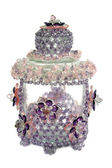 Craft beaded crystal as a decoration on the jar — Stock Photo