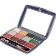 A set colorful of makeup pallet - 图库照片