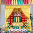 Indigenous traditional wedding aisle borneo Indonesia — Stock Photo