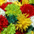 Stock Photo: Composition of colorful the artificial flower decorations for background