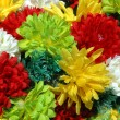 Composition of colorful the artificial flower decorations for background — Stock Photo #12851033