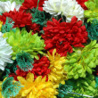 Composition of colorful  the artificial flower decorations for background — Stock Photo