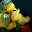 Composition of colorful the artificial flower decorations for b — Stock Photo
