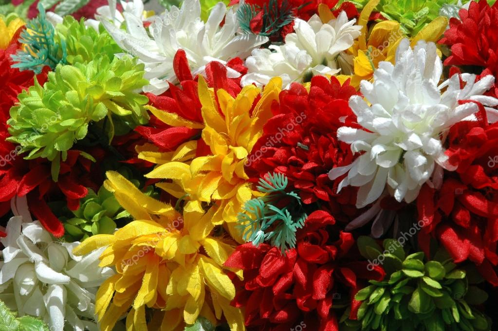 Composition of colorful  the artificial flower decorations for background — Stock Photo #12856325