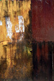 Old and rusty iron wall — Stock Photo
