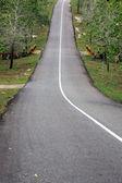 In salita e autostrada asfaltata declino — Foto Stock