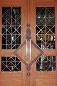A big wooden doors at mosque Baitul Izzah in Tarakan Indonesia — Stock Photo