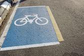 Bicycle lane symbol — Stock Photo