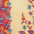 Detailed patterns of indonesian batik cloth  — Stock Photo
