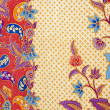 Detailed patterns of indonesian batik cloth - Stock Photo