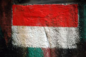 Indonesian flag painted on the wall — Stock Photo