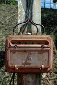 Iron box electrical installation — ストック写真