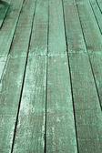 Old green wood floors — Stockfoto