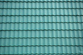 New green tin roof background — Stock Photo