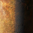 Texture rusty iron pole background — Stock Photo