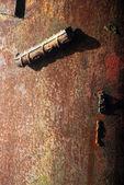 Tekstura zardzewiały żelazo polak tło — Zdjęcie stockowe
