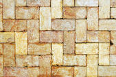 Golden brick wall background — Stok fotoğraf