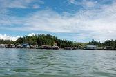 Fishing village at Tarakan, Indonesia — Stock Photo